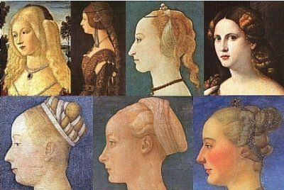 1400s women's hair
