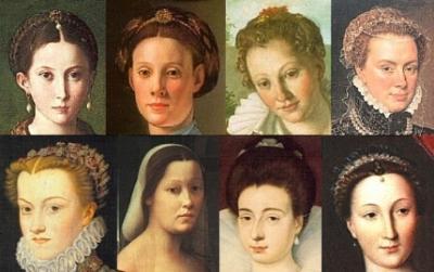 1500s womens hair