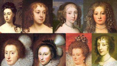 1600s women's hair