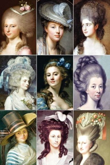 1700's women's hair