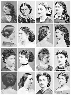 1850s women's hair