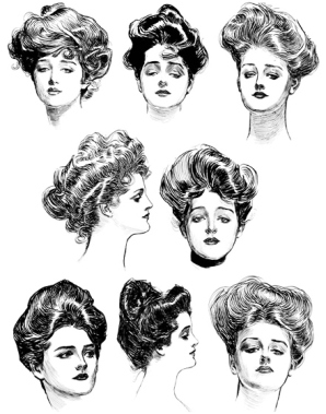 1880sish Women's hair